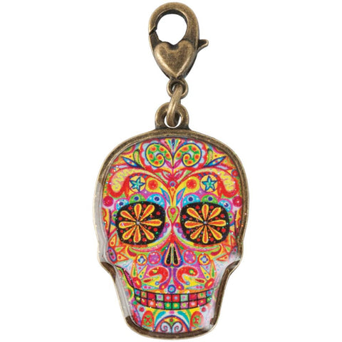 SUGAR SKULL CHARM Thaneeya Necklace Halloween Day of the Dead