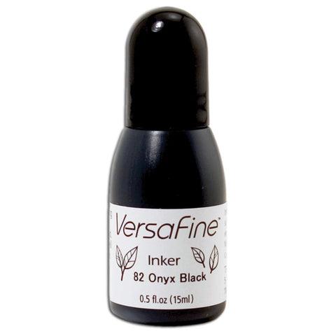 VERSAFINE Re-inker ONYX BLACK .5 fluid oz Pigment Ink Stamping Stamp Pad Refill