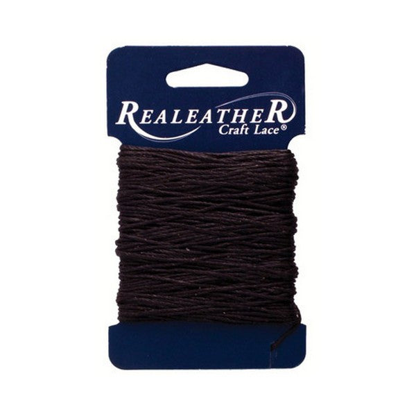 Silver Creek Realeather® Waxed Thread - Black - 25 yards Jewelry Beading Crafts