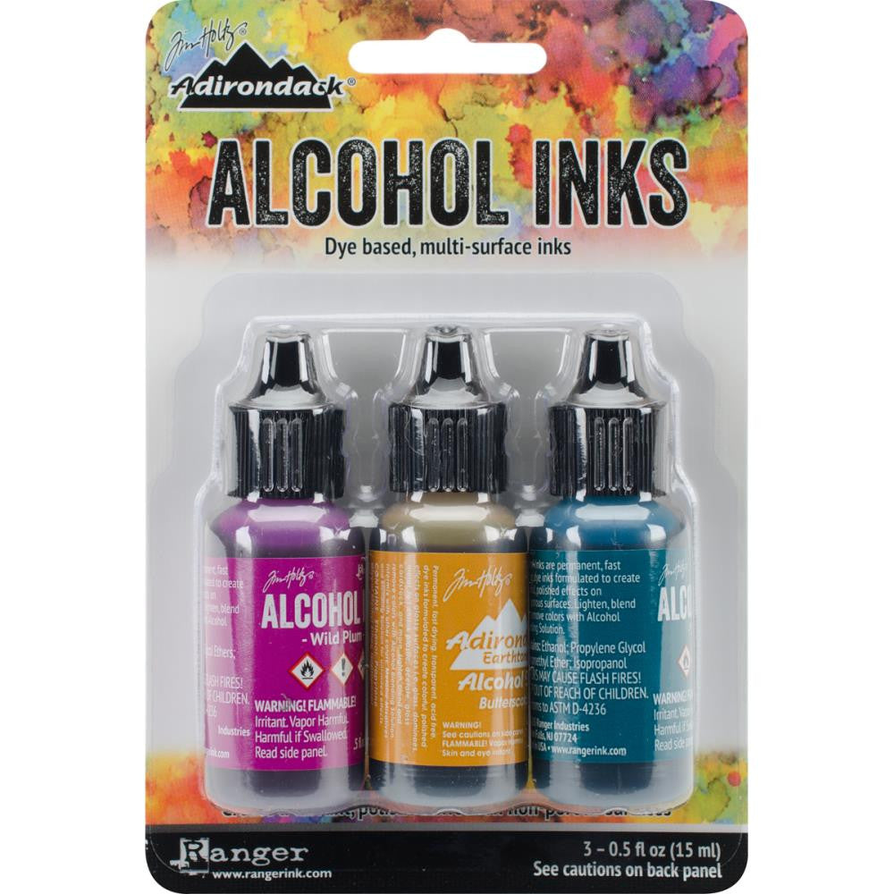 Nature Walk Tim Holtz Alcohol Ink 3 pack Wild Berry Butterscotch Stream