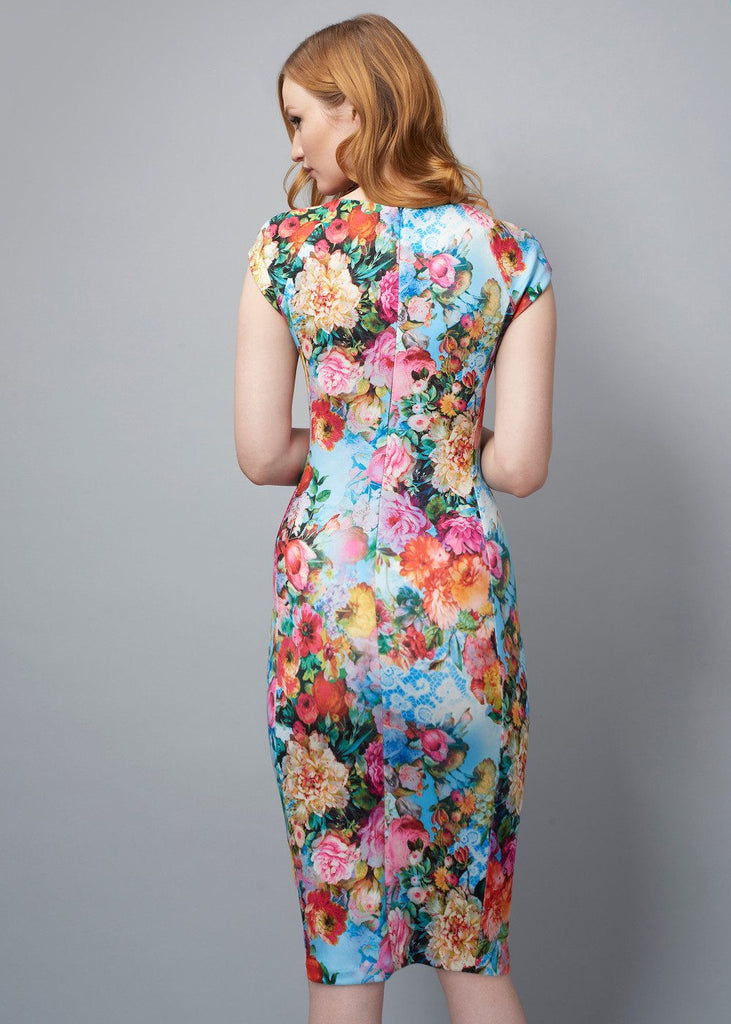 Georgia Floral Cap Sleeved Dress