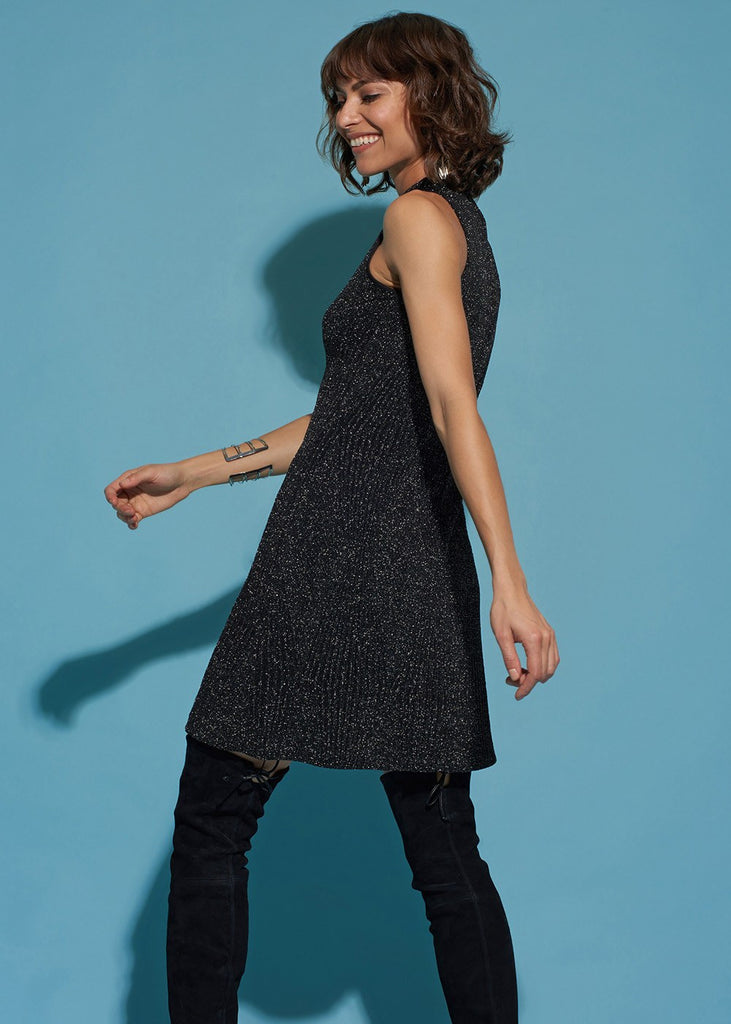 Sleeveless Mock-Neck Dress
