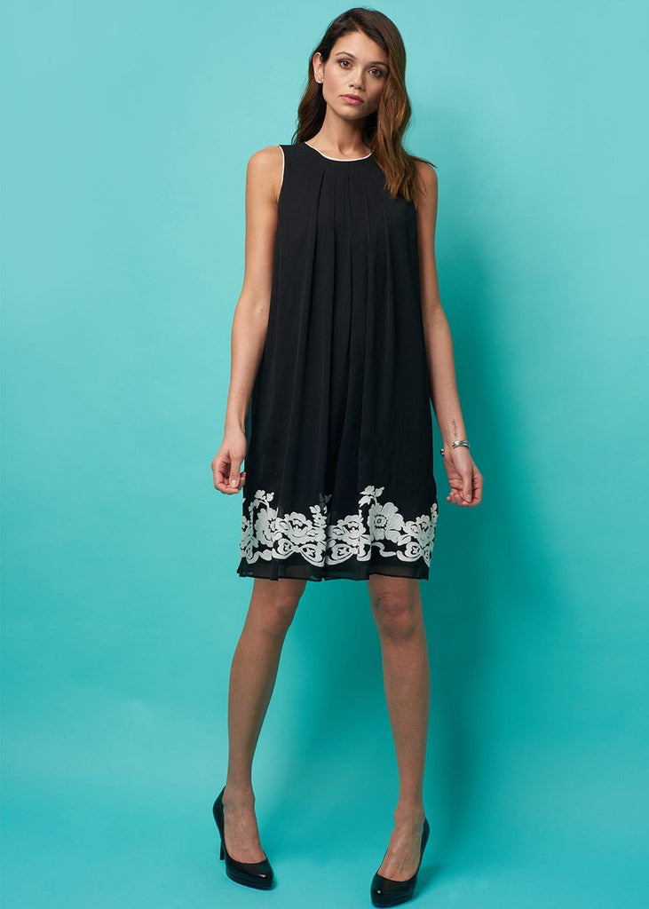 Monica Embroidered Short A- Line Dress