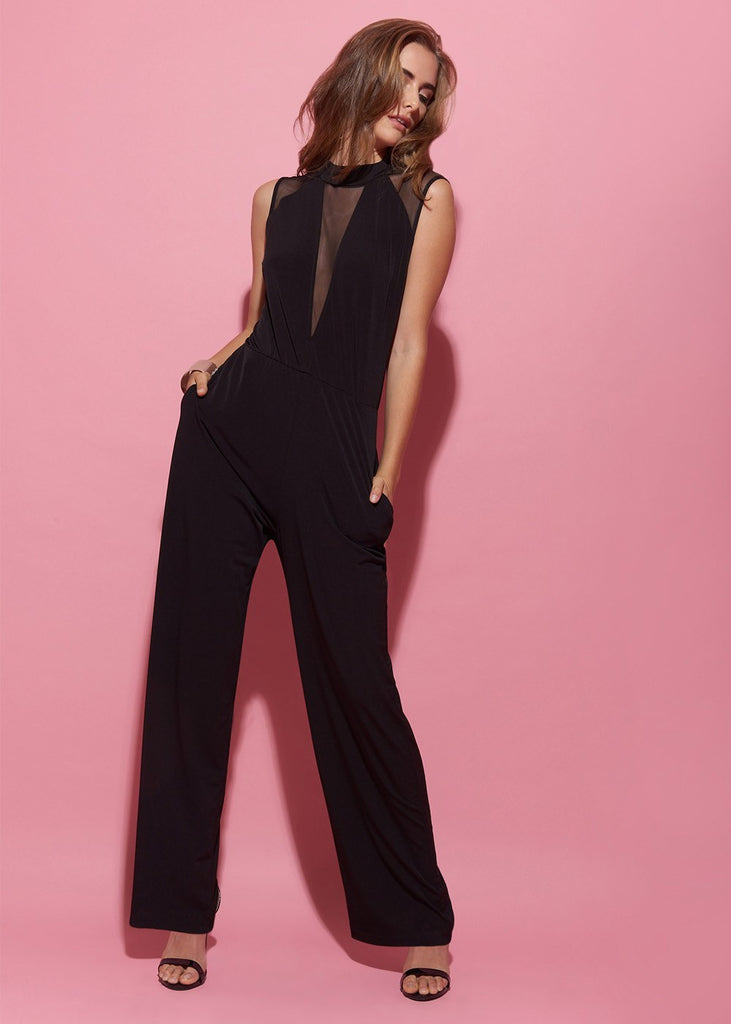 Jumpsuit With Mesh Details