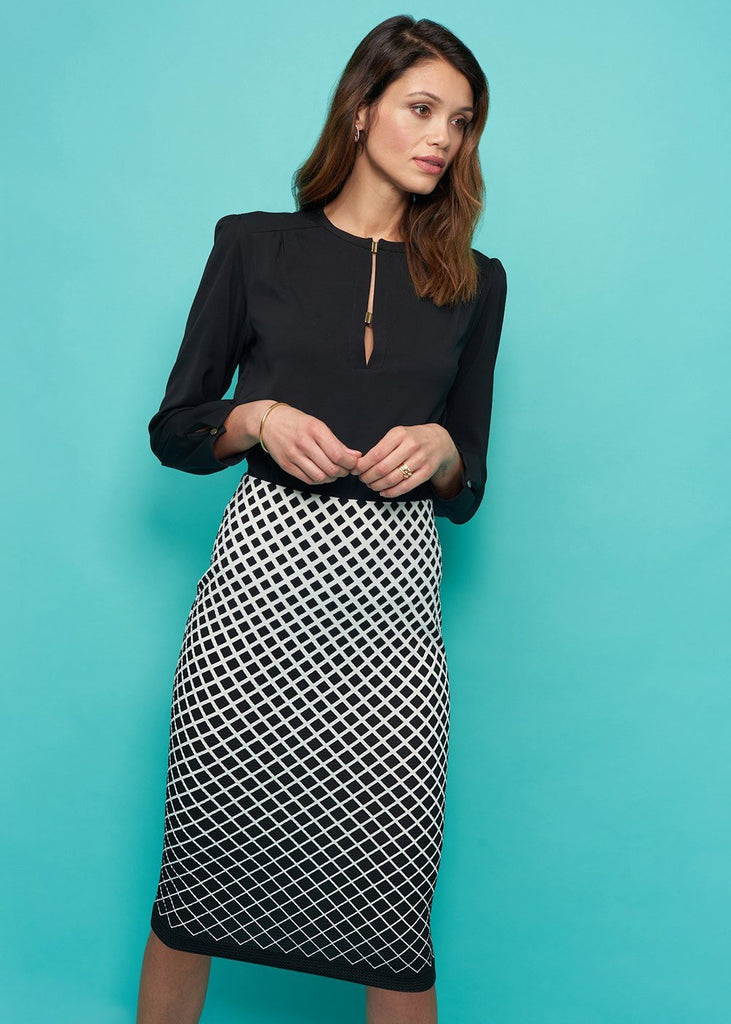 Waffle Printed Pique Skirt