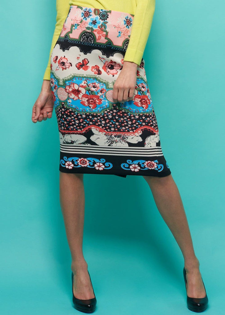 Lauren Scuba Printed Skirt