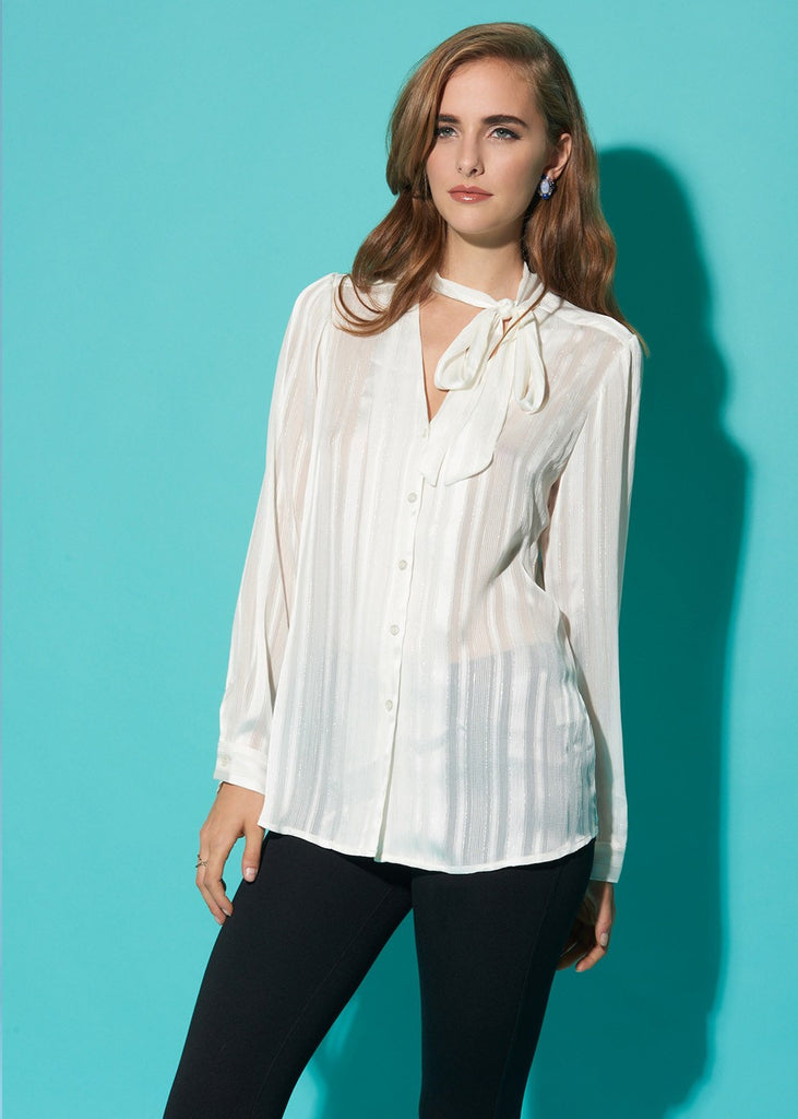 Bow Front Romantic Blouse