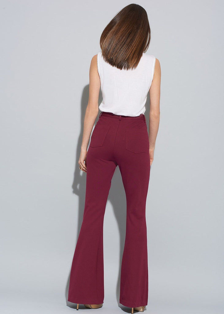High Waisted Bell Bottom Pants