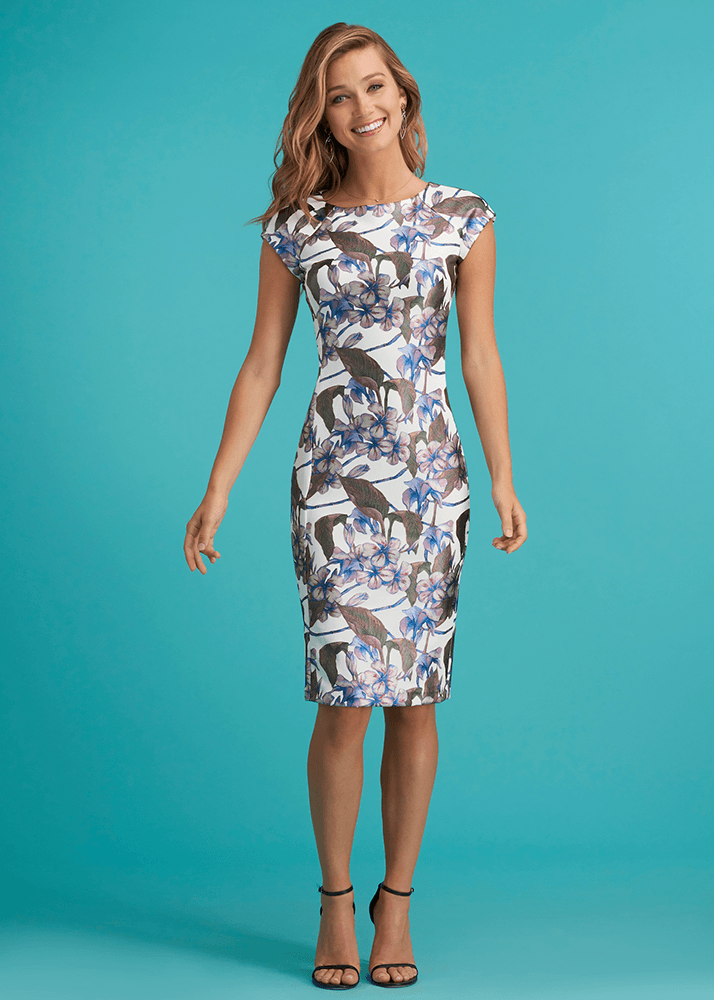 Royal Foil Midi Dress