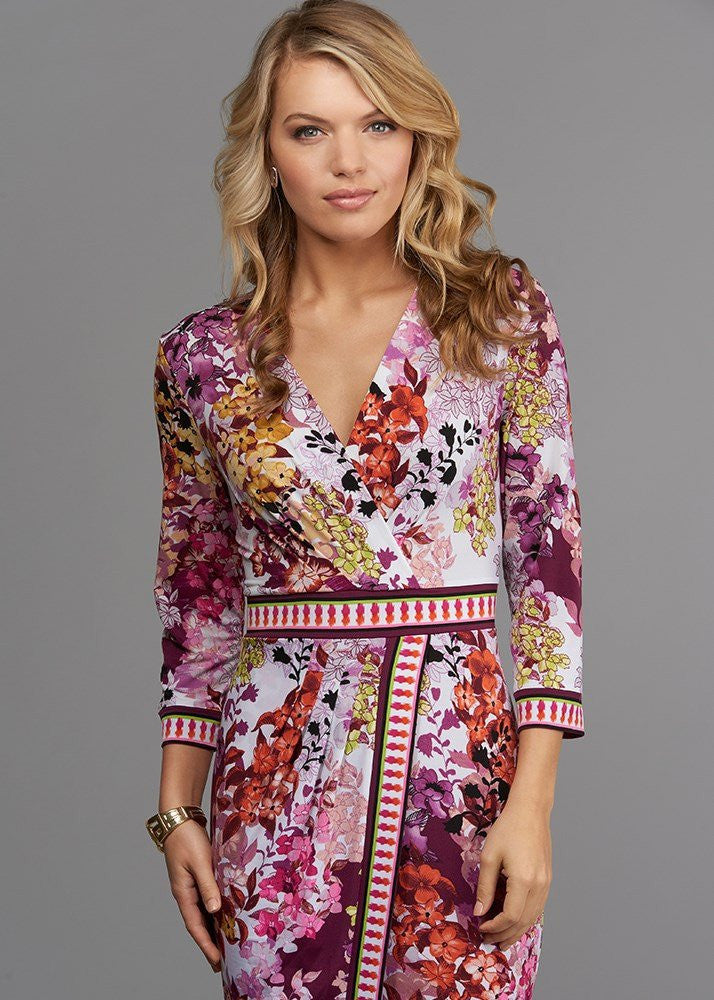 Sophisticated Spring Buzz Wrap Dress