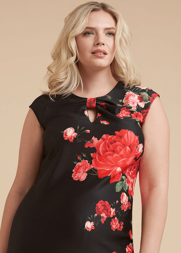 Plus Size Knot Your Mother`s Midnight Dress