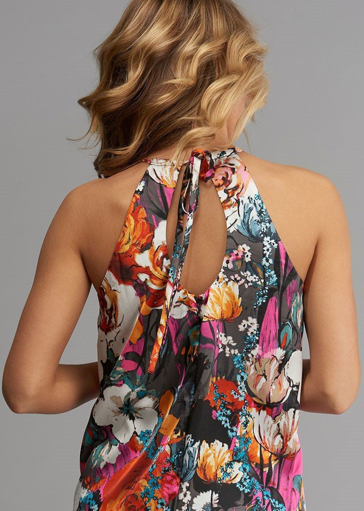 Floral Printed Keyhole Shift Dress