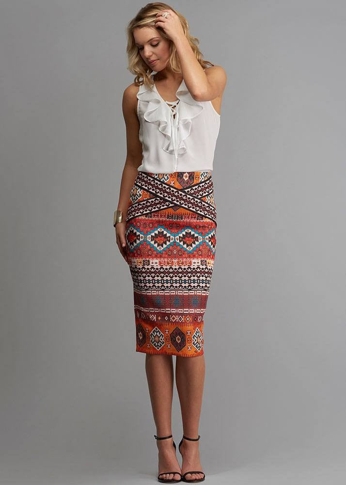 Aztec Tribal Scuba Skirt