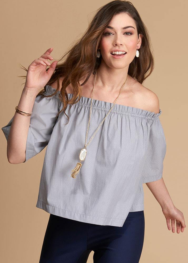 Off The Shoulder Structured Top