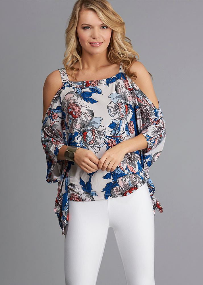 Spring Floral Wing Top