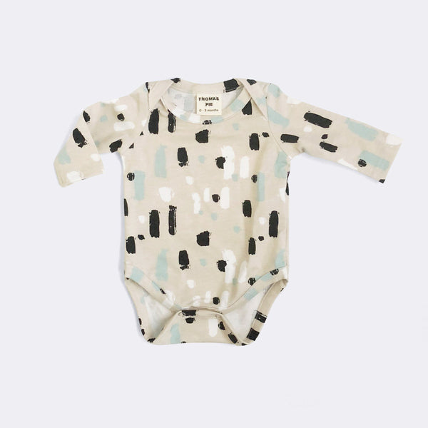 Paint Strokes Long Sleeve Bodysuit