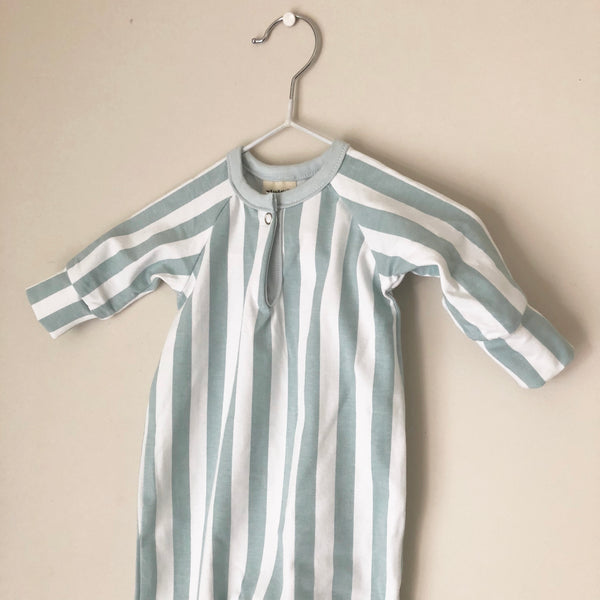 Mint Stripe Raglan All in One