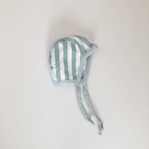 Mint Stripe Bonnet