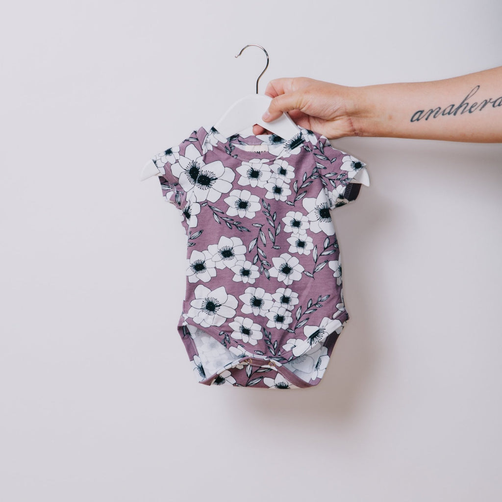 Lavender Short Sleeve Bodysuit