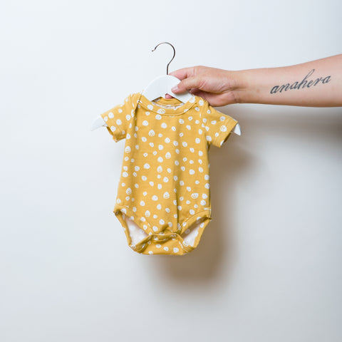 Confetti Gold Short Sleeve Bodysuit