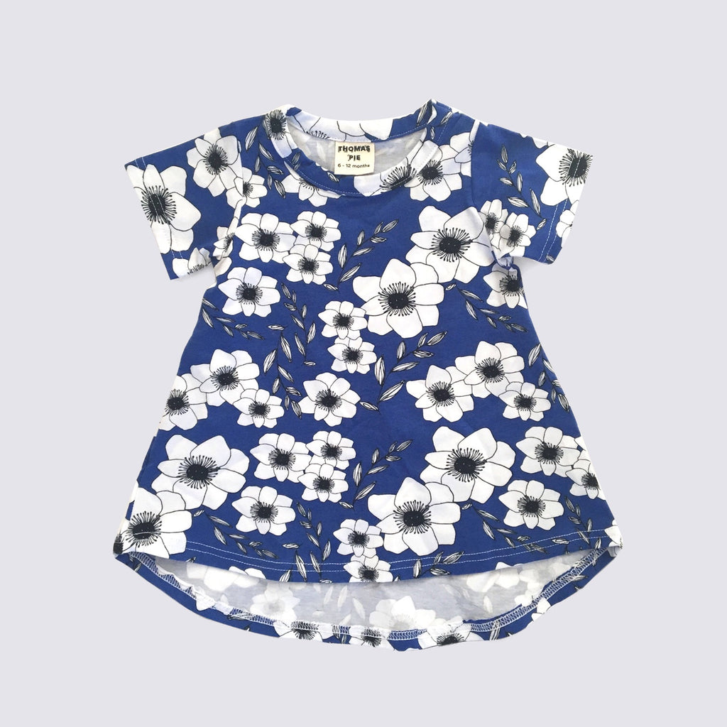 Blue Floral Swing Dress