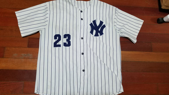 finest selection 33685 38f80 MENS - Worn New York Yankees Mattingly jersey sz L
