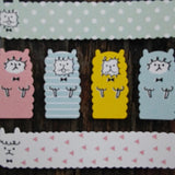 CX00887-Crux Alpaca Pastel Stripes & Dots Dual Sticker Sheet Set