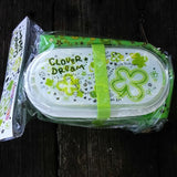 CX61217-Crux Clover Dream 2-Layer Japanese Bento Box with additional Bento Pouch and Chopsticks
