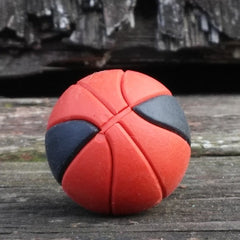 ER-BASKETBALL-Iwako Japanese Puzzle Eraser-Basketball-Brown/Black