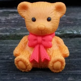 ER-TEDDYBEAR-Iwako Teddy Bear Rabbit & Dog Japanese Puzzle Eraser-Teddy Bear with Red Bow