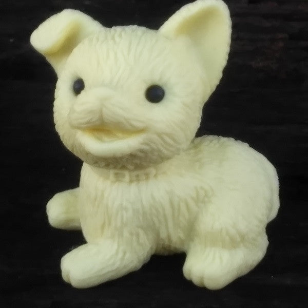 ER-DOG-Iwako Teddy Bear Rabbit & Dog Japanese Puzzle Eraser-Dog Pale Yellow