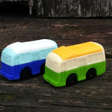 ER-BUS-Iwako Train & Bus Japanese Puzzle Eraser-Bus Light Blue/Royal