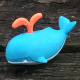 ER-WHALE-Iwako Sea Animal Japanese Puzzle Eraser - Blue Whale