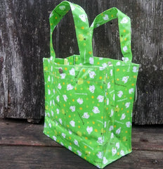 CS28501-San-X Tsuginohikerori (Kerori or Tomorrow Frog) Clover Daydream PVC Vinyl Tote Bag-Shamrock Green