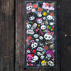 CX73712-Crux Japan I Heart Dokuro Skulls Sticker Sheet