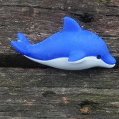 ER-DOLPHIN-Iwako Sea Animal Japanese Puzzle Eraser - Blue Dolphin
