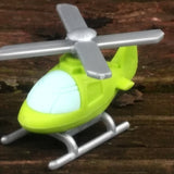ER-CHOPPER-Iwako Airplane Copter & Boat Japanese Puzzle Eraser-Chopper Green
