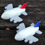 ER-PLANE-Iwako Airplane Copter & Boat Japanese Puzzle Eraser-Airplane Red
