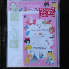 KJ02824-Kamio Japan Fairy Tale World Storybook Characters Small Letter Set with Sticker Strip