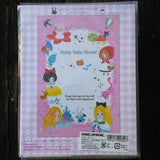 KJ02824-Kamio Japan Fairy Tale Storybook Characters Small Letter Set with Sticker Strip