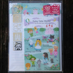 KJ02825-Kamio Japan Fairy Tale World Brick Road to the Castle Small Letter Set with Sticker Strip