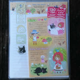 KJ02826-Kamio Japan Fairy Tale World The Big Bad Wolf is Dead Small Letter Set with Sticker Strip