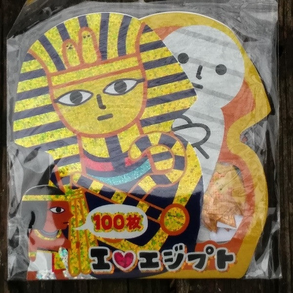 KJ44921-Kamio Japan I Love Egypt 100 Piece Flake Sticker Pack