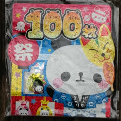 KJ44923-Kamio Japan Panda Matsuri Festival 100 Piece Flake Sticker Pack