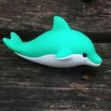 ER-DOLPHIN-Iwako Sea Animal Japanese Puzzle Eraser - Green Dolphin