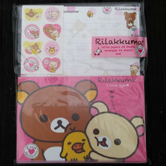 LH36001-San-X Rilakkuma I Love Gyu (Squeezes) Large Letter Set-Pink and Hearts