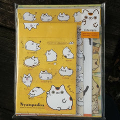 LH42201-San-X Nyanpuku Lucky Cat Good Fortune Large Letter Set-Marigold