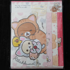 LH50001-San-X Rilakkuma Kitten Cosplay Large Letter Set-Lazy and Playful