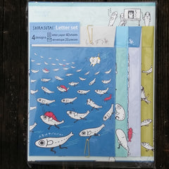 LH50401-San-X Shirasu-Tai (Team Anchovy) The Great Escape Large Letter Set-We're Not Cat Food