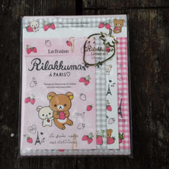 LH51101-San-X Rilakkuma Strawberries and Paris Large Letter Set-Pink